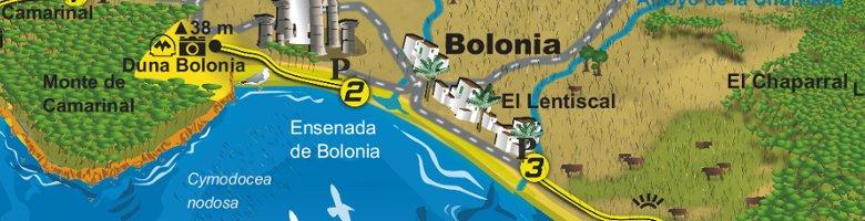 mapa-guía de senderos por el Estrecho